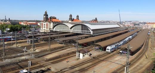 Oberhalb des Prager Hauptbahnhofs