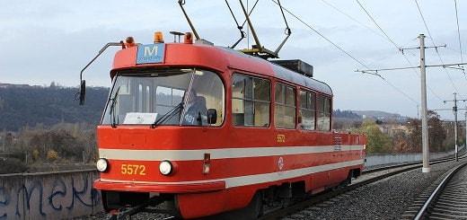 Schmierstraßenbahn in Prag