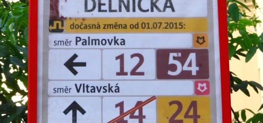 Straßenbahnhaltestellenschild Detail