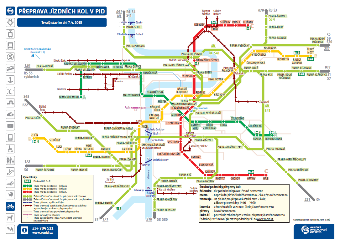 Prag Karte Tschechien.Mit Dem Fahrrad Im Prager öffentlichen Personennahverkehr