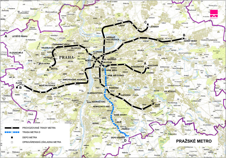 Metro Prag Karte.Ein Blick In Prags Zukunft Die Metro Linie D Unterwegs In Tschechien