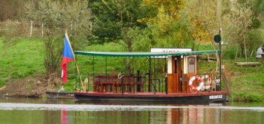 Boot auf der Moldau
