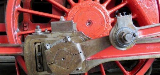 Dampflokomotive, Rad und Pleul