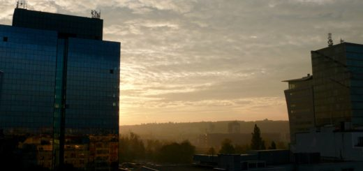Morgenstimmung in Prag, Holešovice
