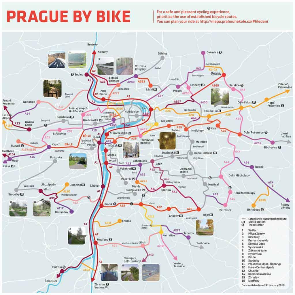 Prag Karte Tschechien.Prag Per Rad Tipps Und Infos Unterwegs In Tschechien