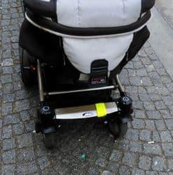 Reflektorband am Kinderwagen