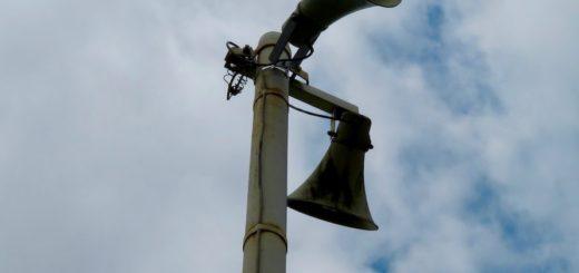 Lautsprecher im Dorf